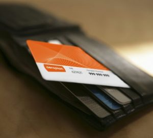 Wallet showing an Aeroplan card