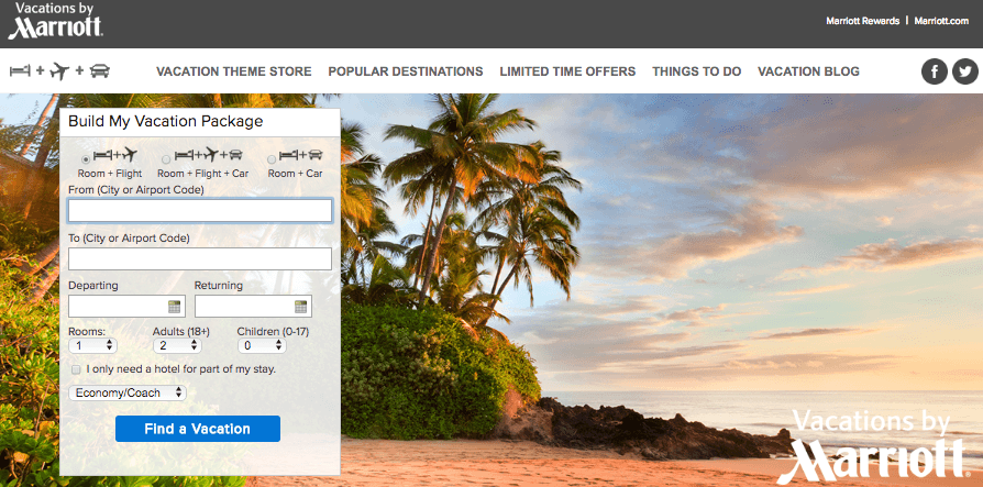 Vacations by Marriott Web Site