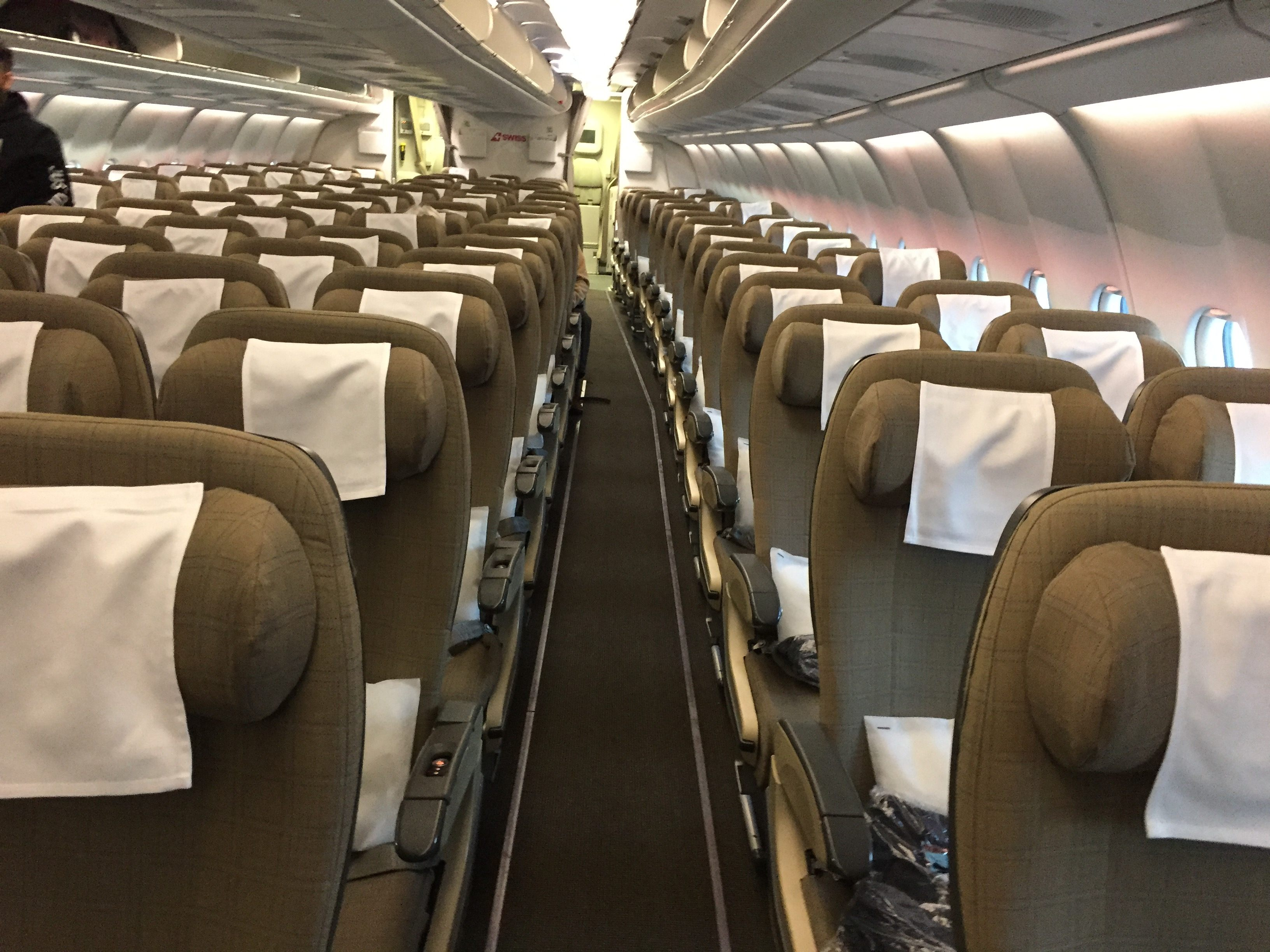 Swiss airlines Economy cabin