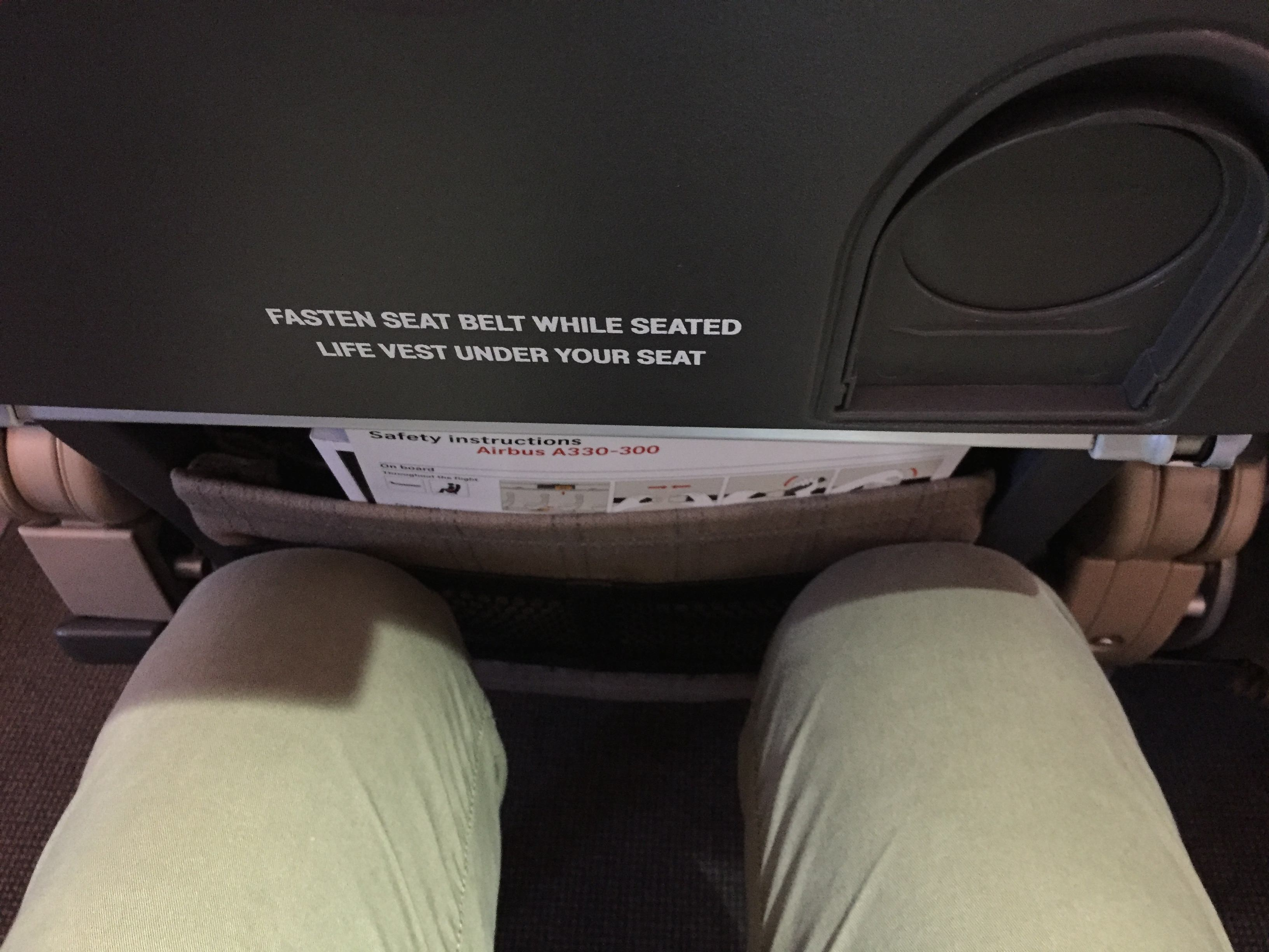 Swiss airlines Economy cabin seat pitch: tight