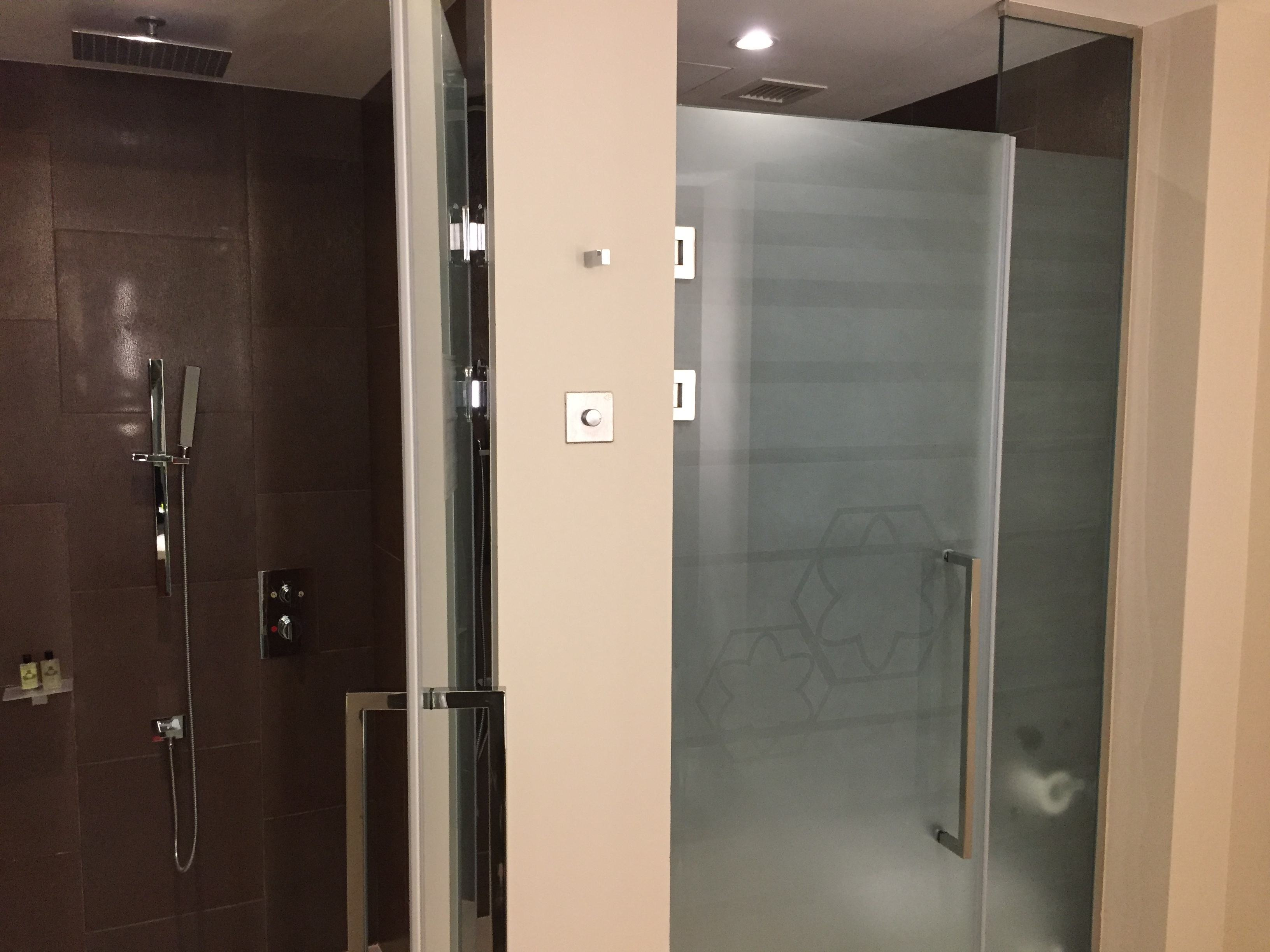 The best rain shower I've experienced is at the InterContinental Doha The City
