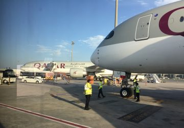A350 airside at DOH