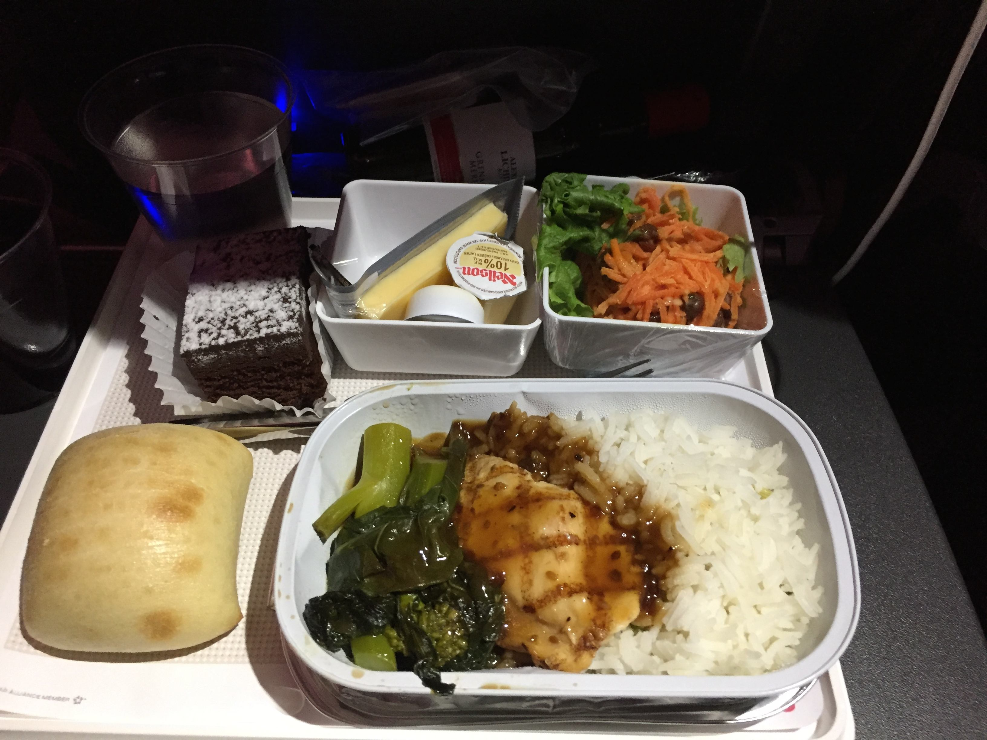 Swiss Airlines dinner