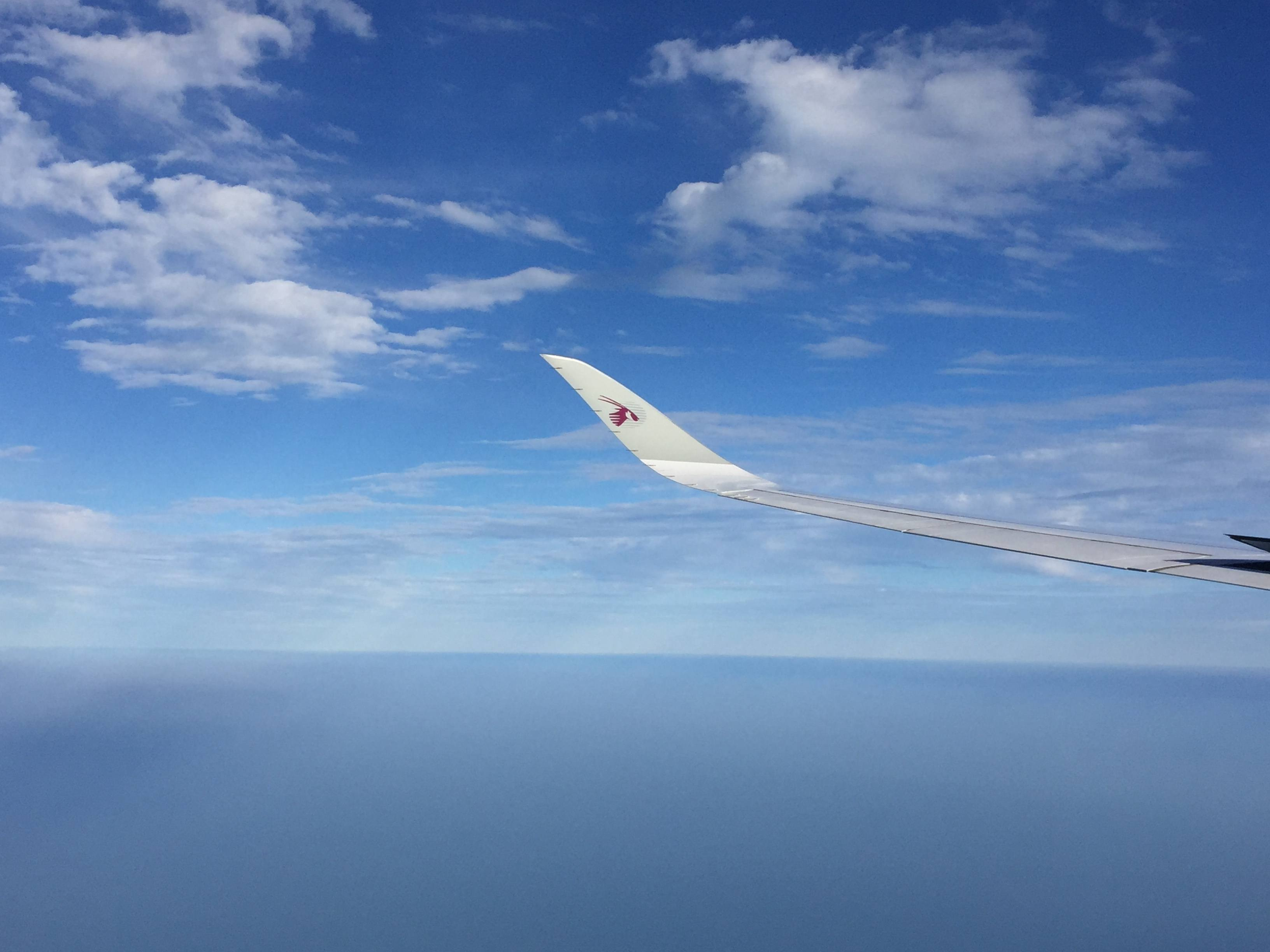 Qatar Airways A350 wing
