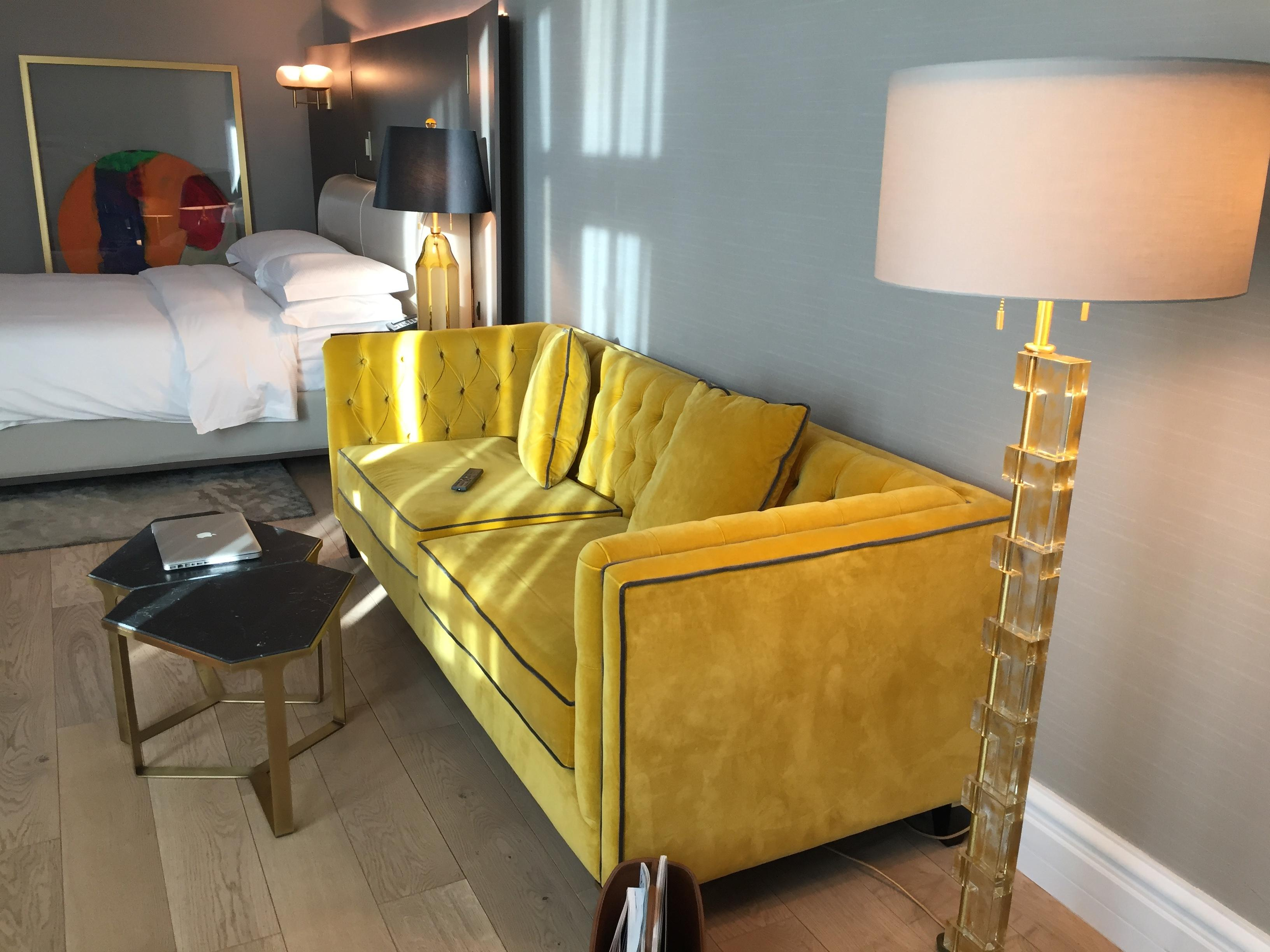 Beautiful yellow sofa