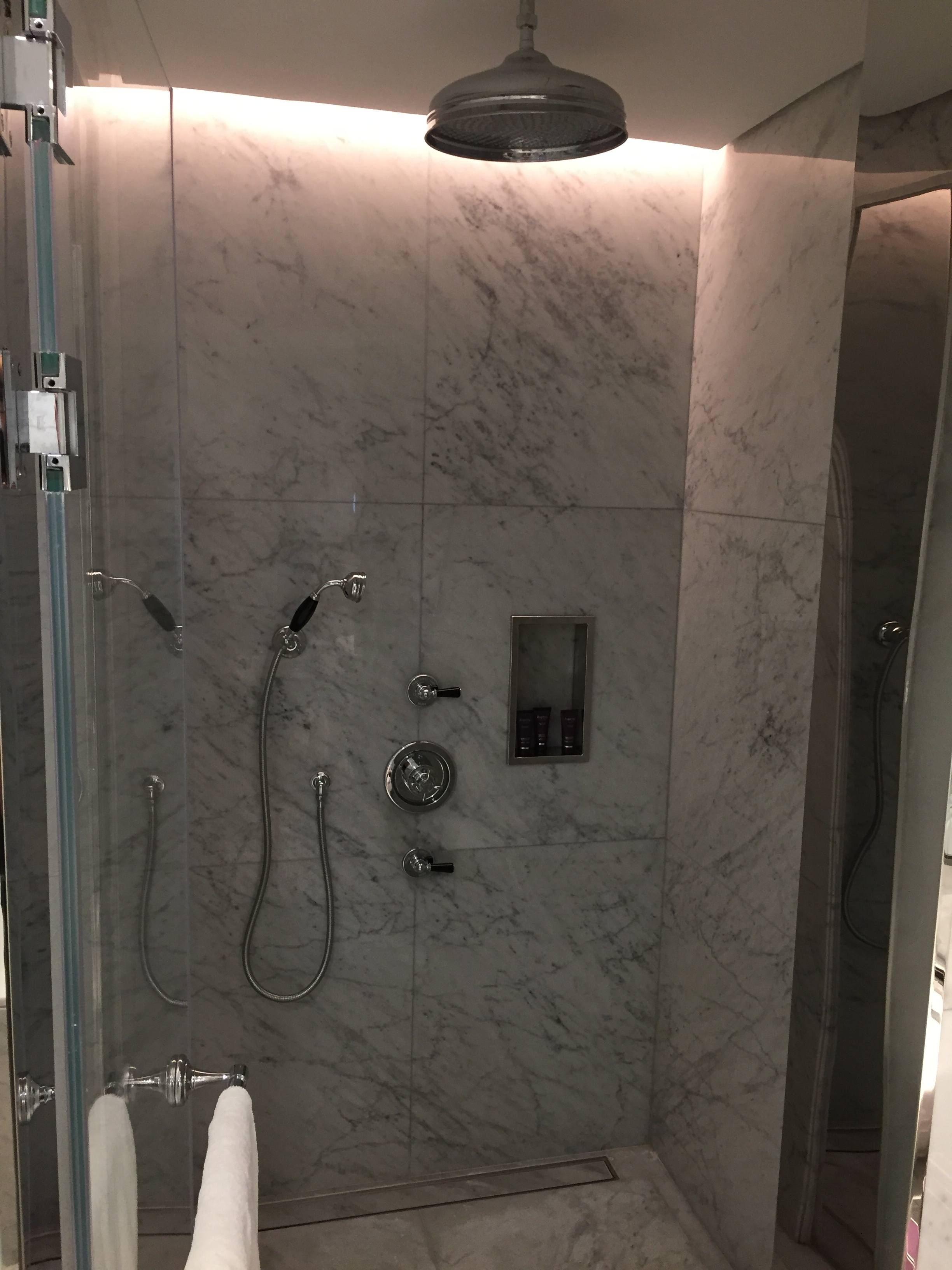 Bathroom shower - Ritz-Carlton Doha