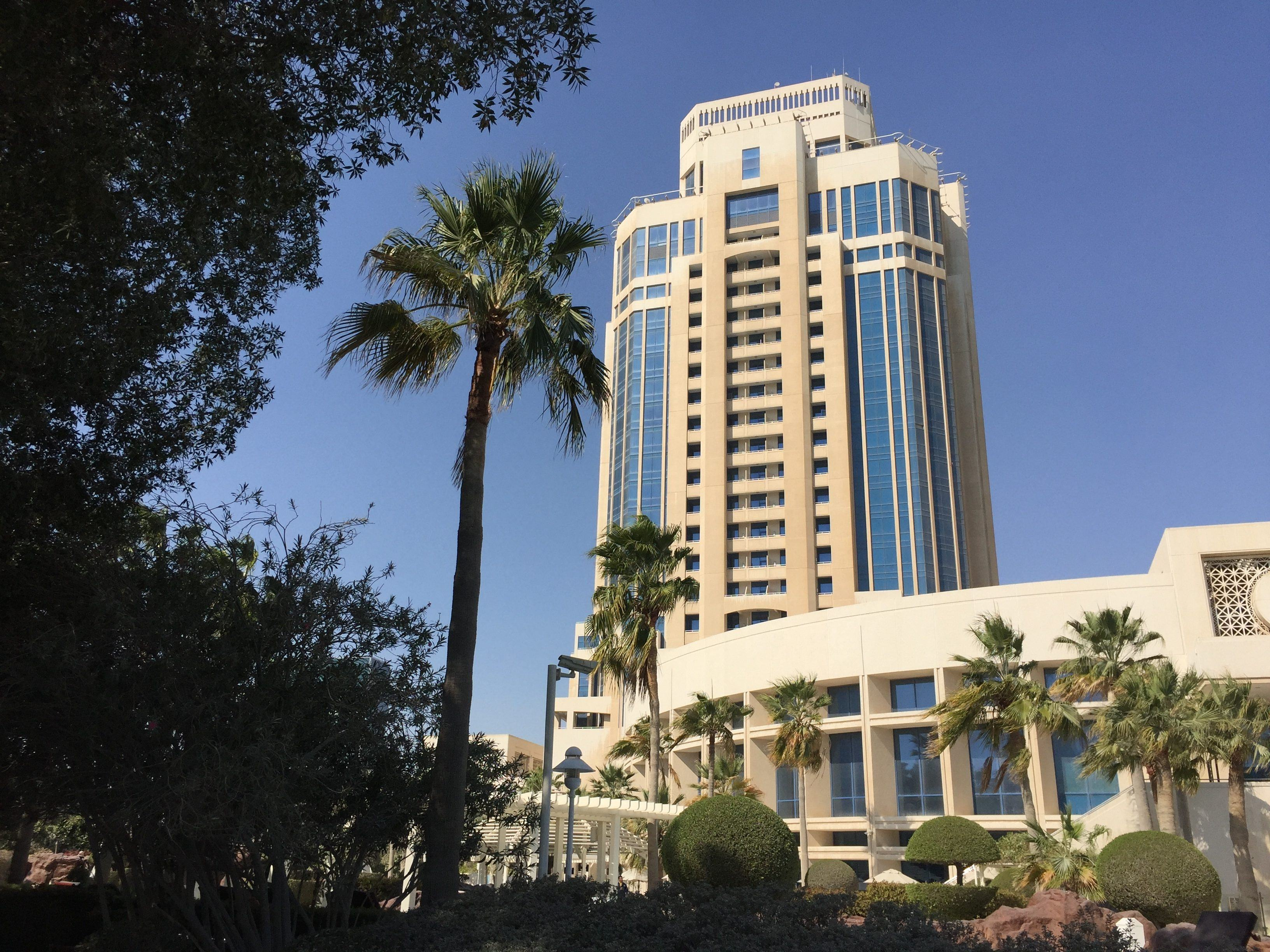 The Ritz-Carlton-Doha view from the gardens