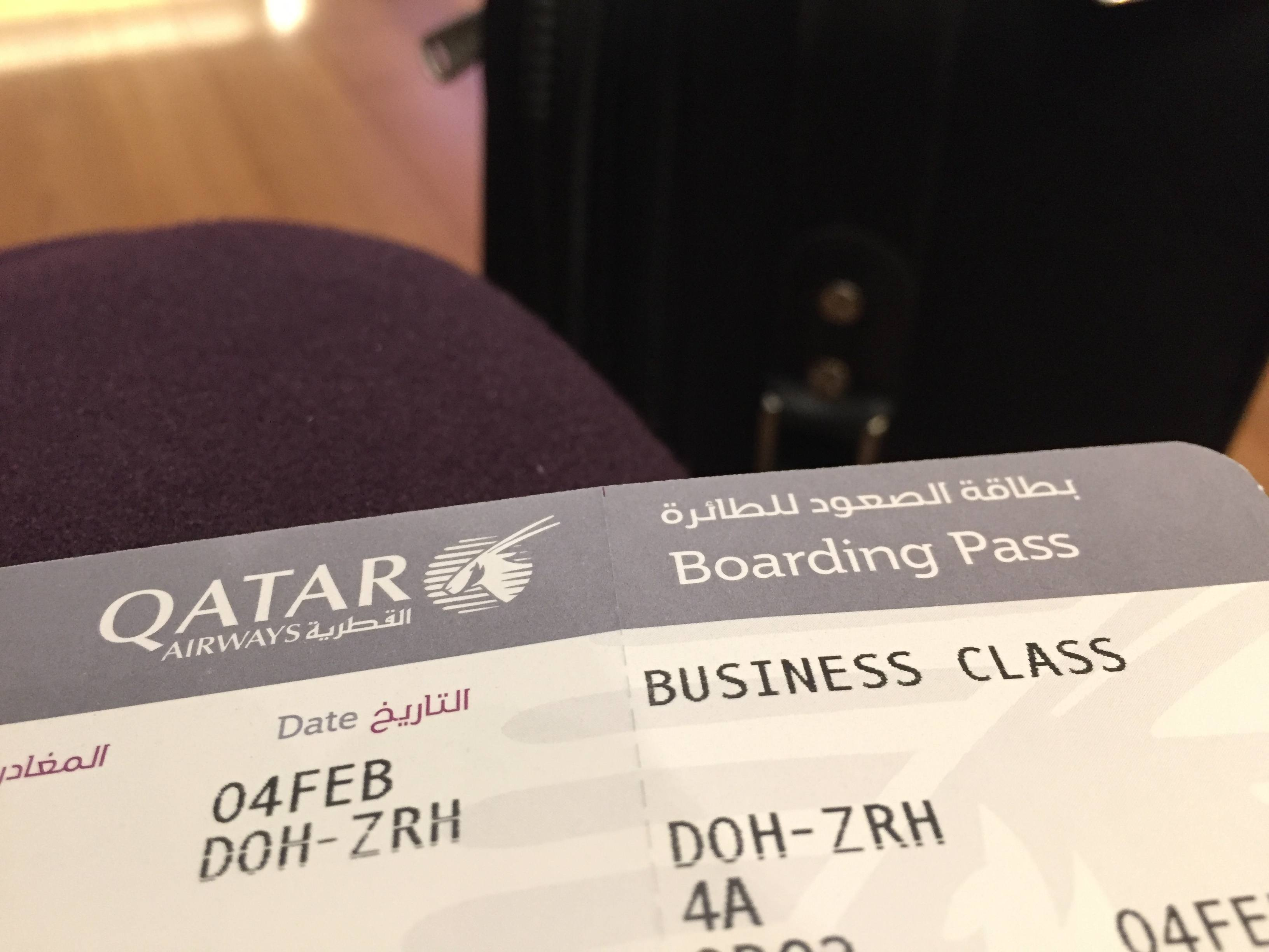 Qatar-Airwas-Business-Class-ticket