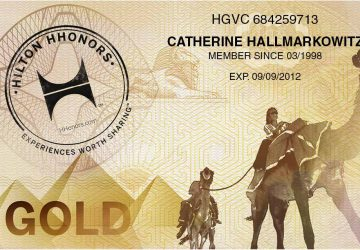 Hilton Honors Gold Card