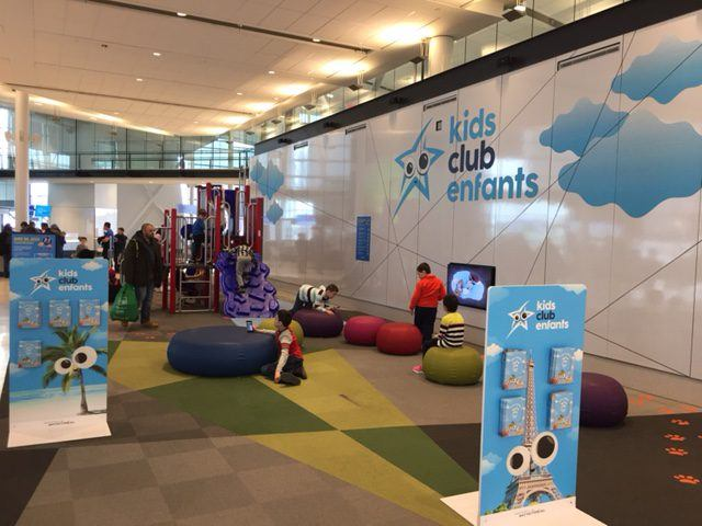 Air Transat's Kids Club in the new section of YUL's international terminal