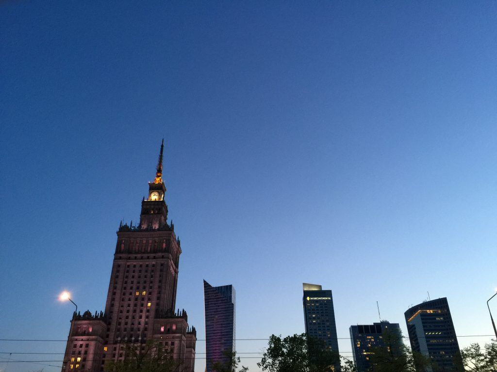 Warsaw reward flights with Aeroplan