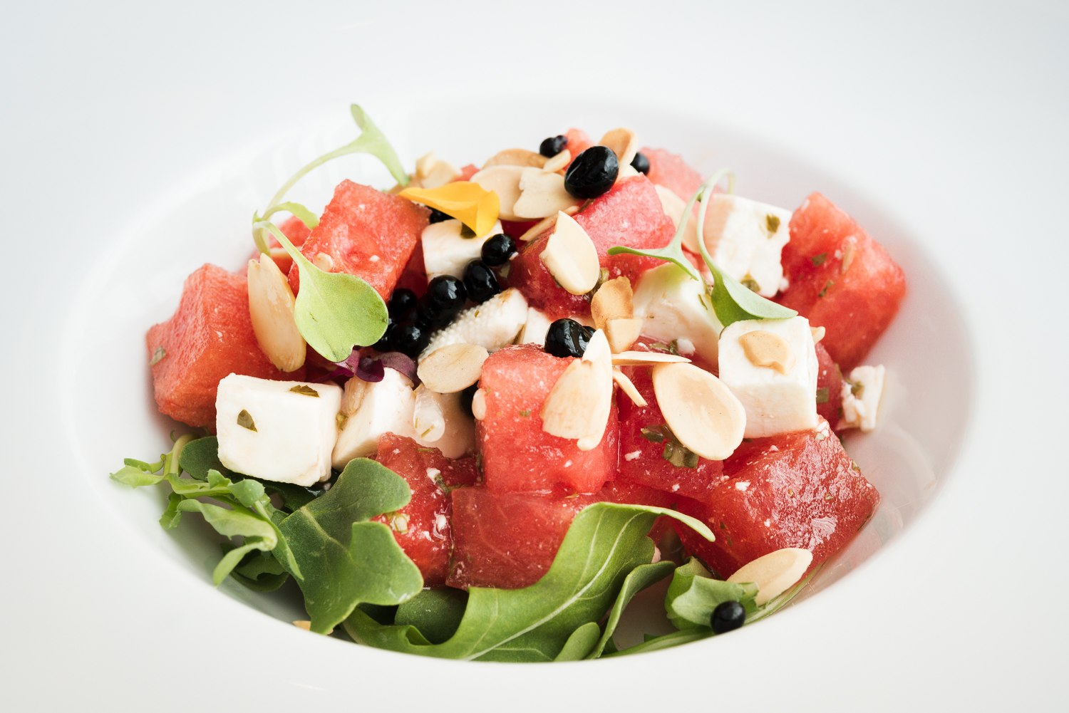 Watermelon and feta cheese salad from the table d'hôte menu | Bijou Resto | Bar - Photo credit: Audrey McMahon
