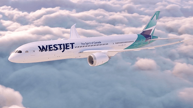 WestJet 787-9 with new livery