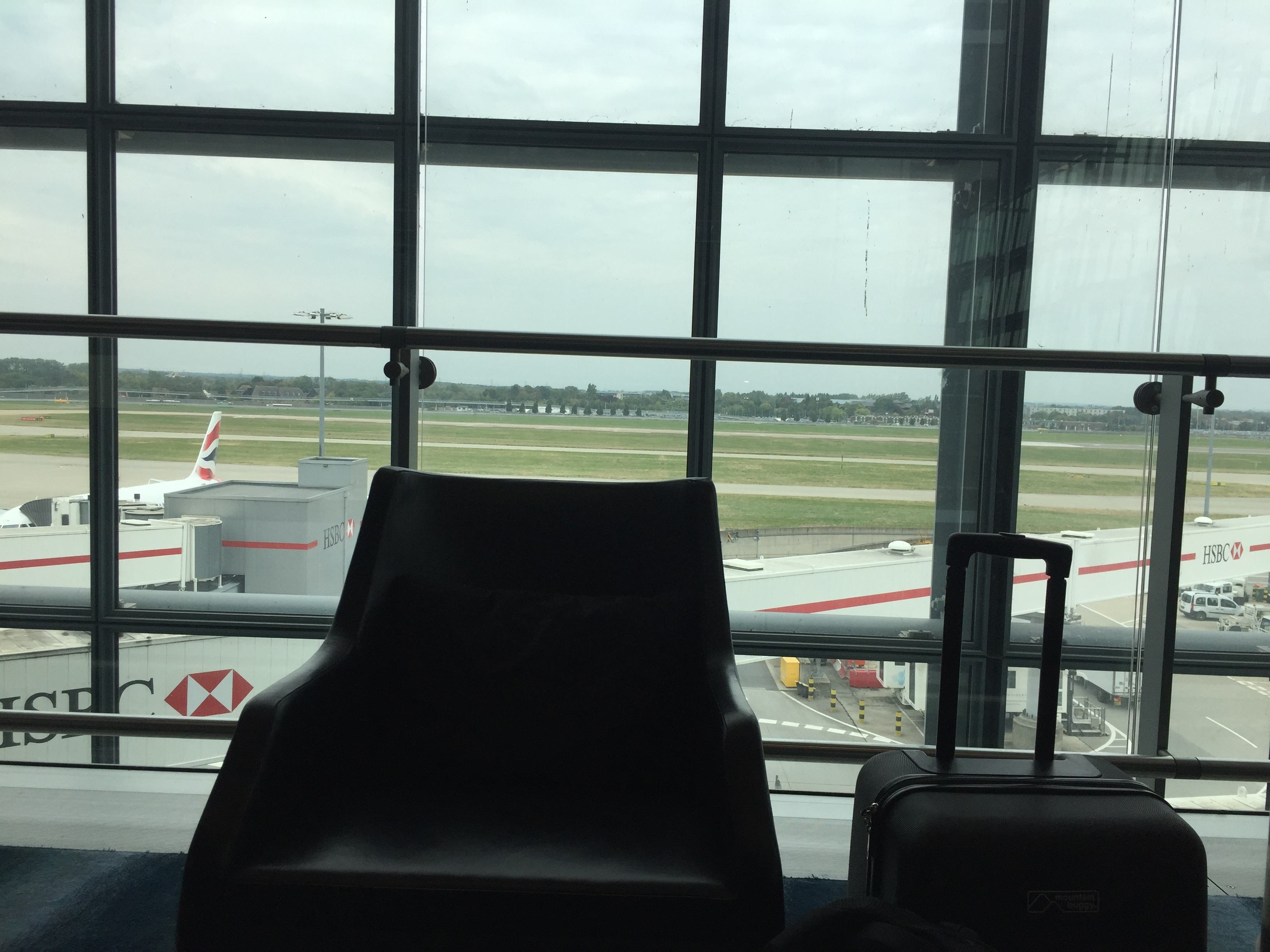 Plaza Premium Lounge spotting view- London Heathrow T5