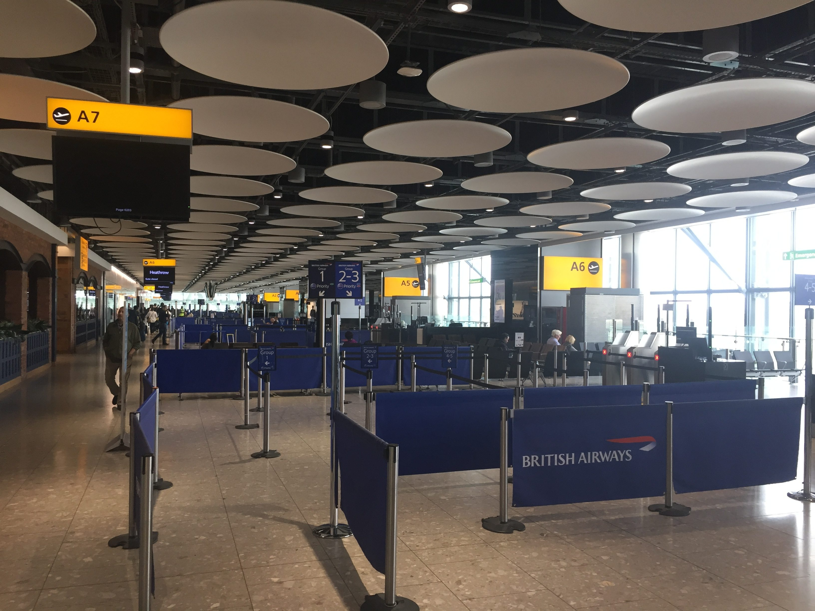 British Airways Gate 7 Heathrow Terminal 5A