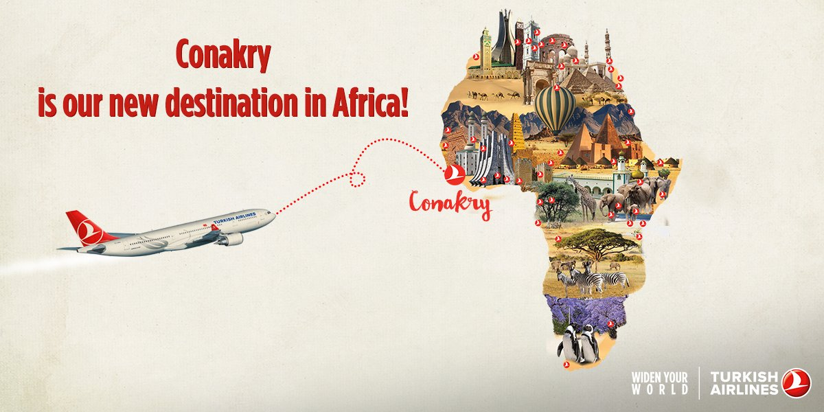 Turkish Airlines new service to Conakry