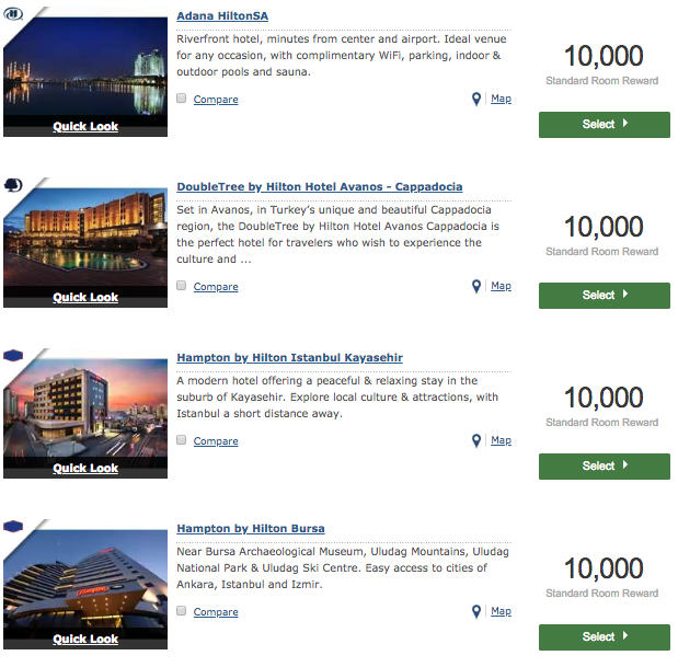 Hilton Hotel at 10,000 points in Turkey