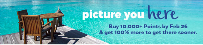 100% more Hilton Honors when you buy 10,000 points and more