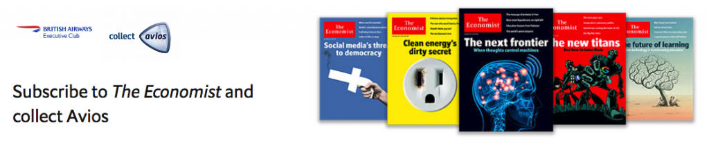 Earn Avios with The Economist