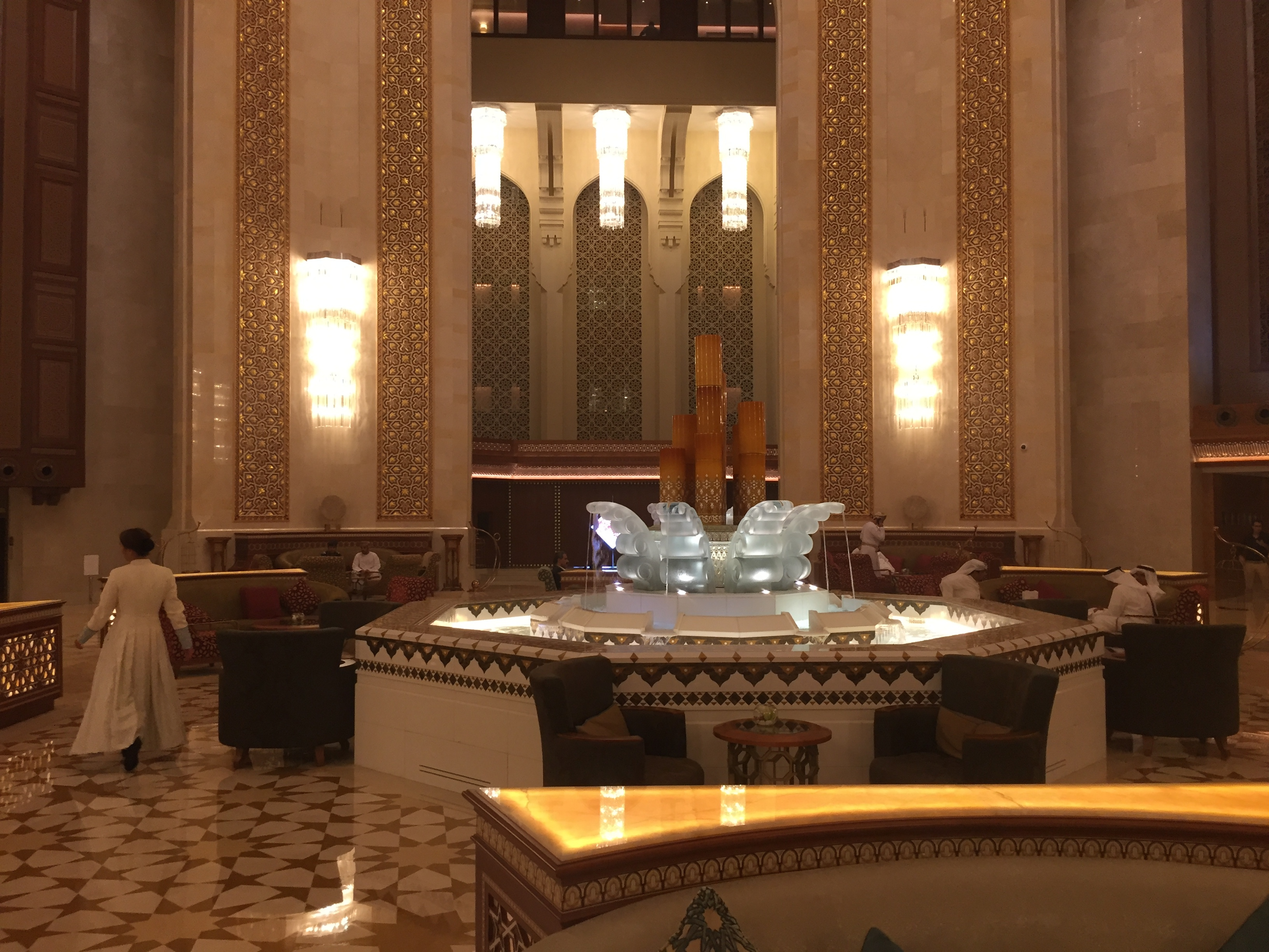 View of the Atrium Tea lounge - Al Bustan Palace Ritz Carlton Muscat