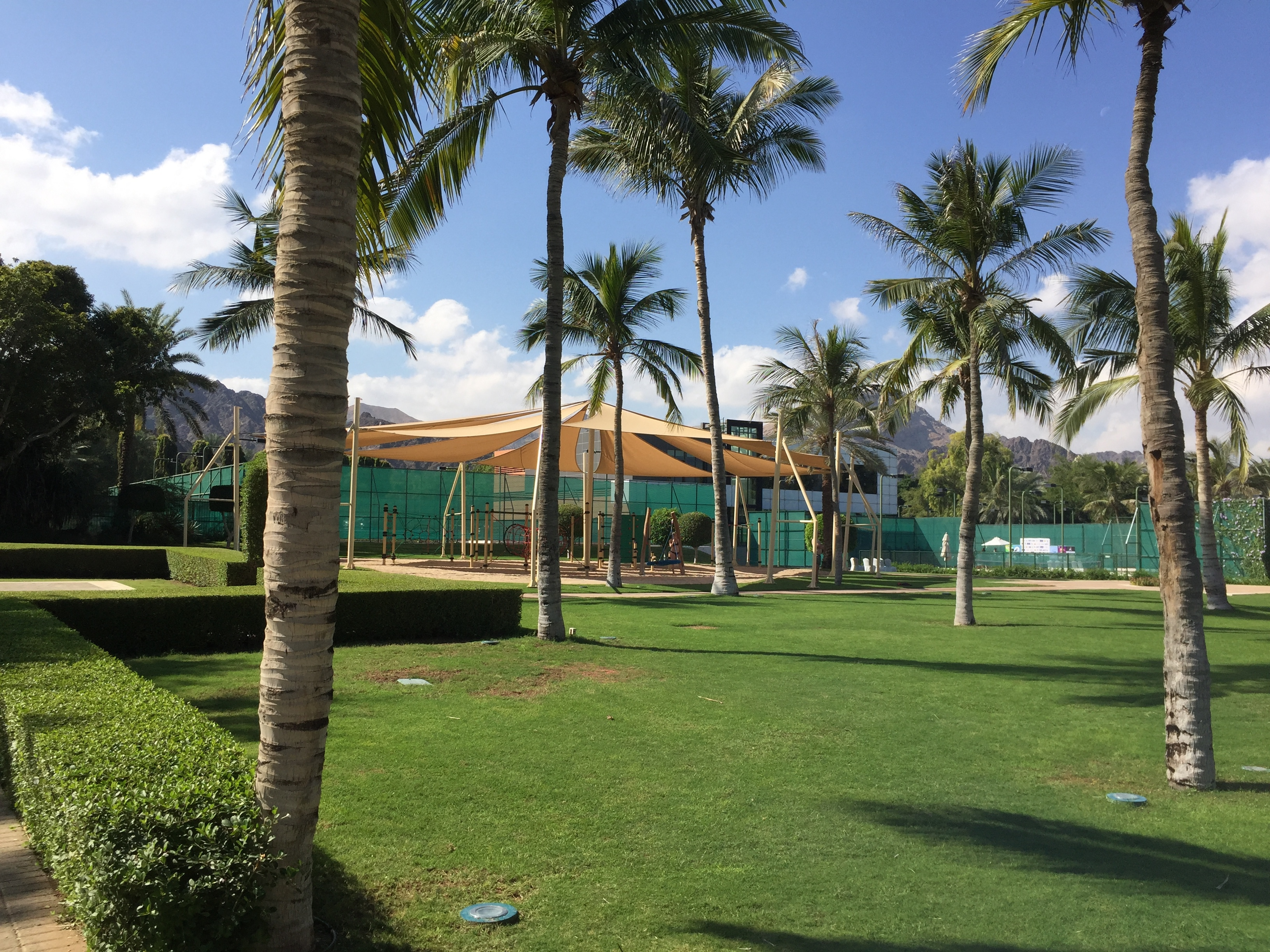Ritz Kids play area & tennis courts - Al Bustan Palace Muscat