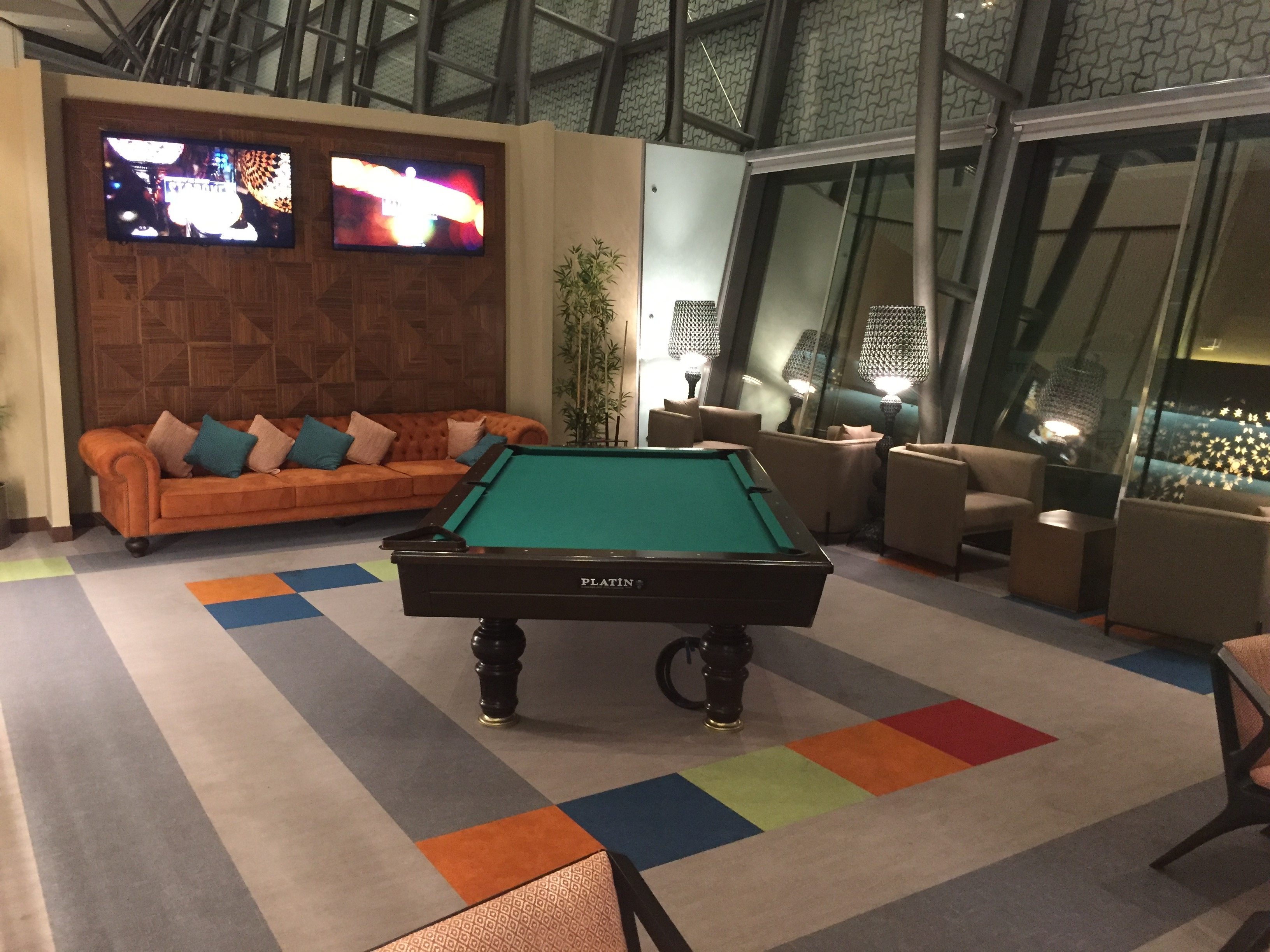 Pool table area | The Primeclass Lounge Muscat