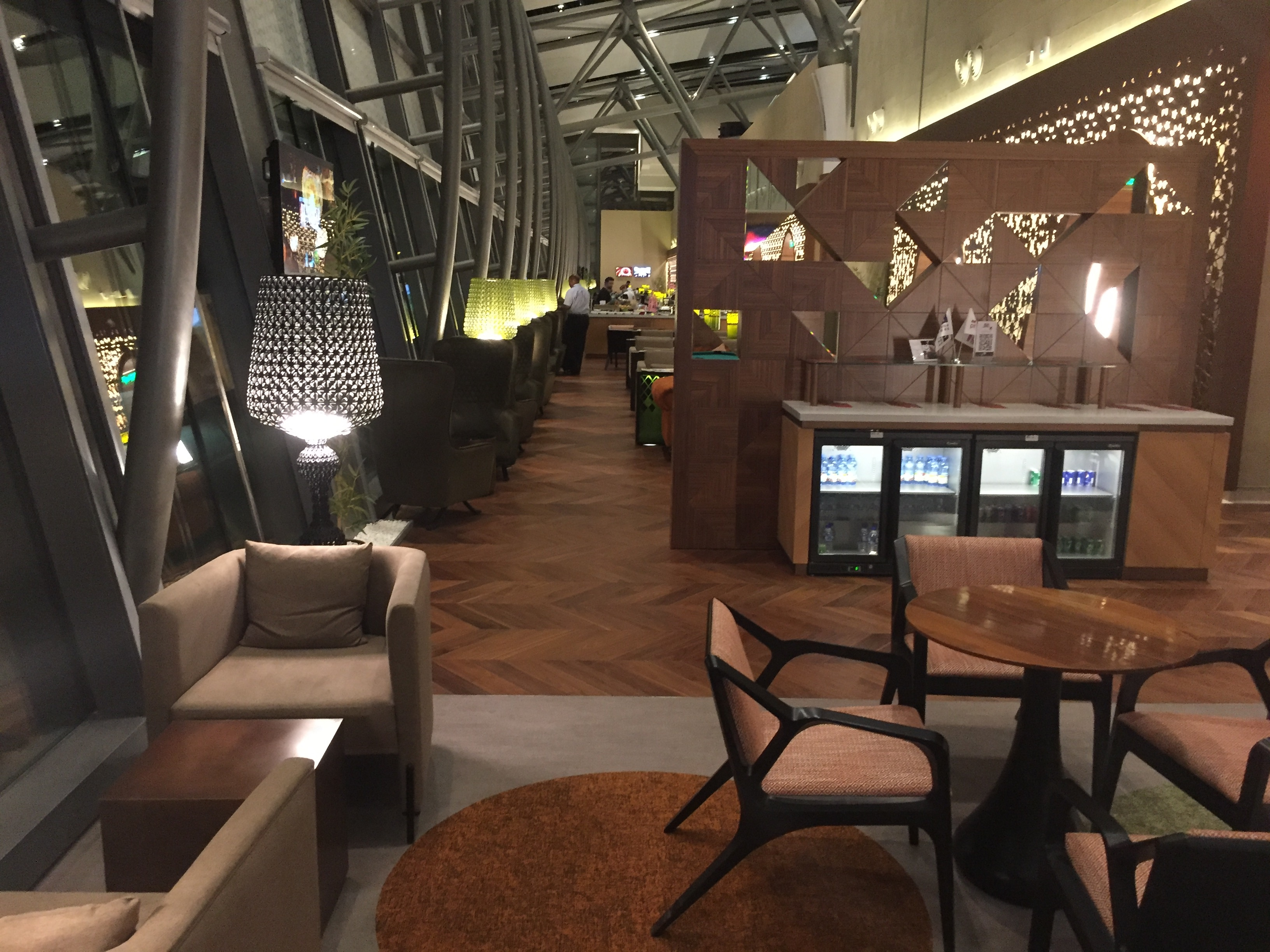 Snack sitting area | The Primeclass Lounge Muscat
