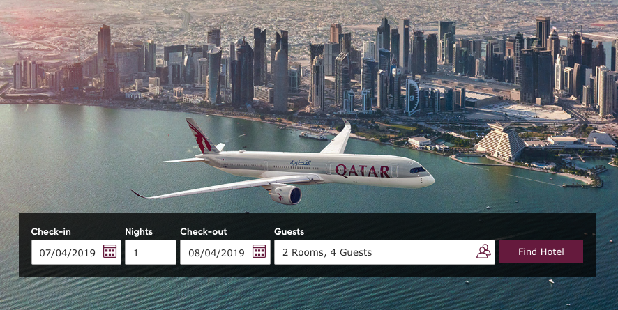 Discover Qatar's Stopover hotel partners site