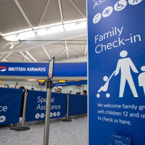 Family zone check-in at T5 Heathrow | Picture by Nick Morrish/British Airways