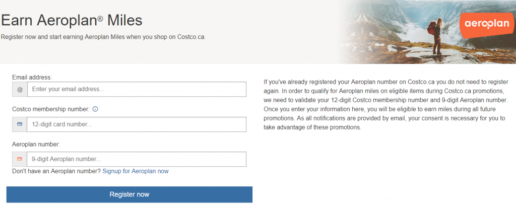 Earn 3X Aeroplan Miles on Costco.ca