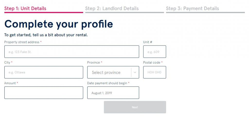 Get Digs Renter Profile Completion