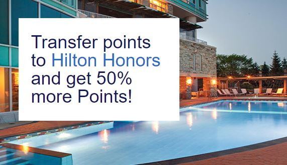 Hilton Honors 50% more points