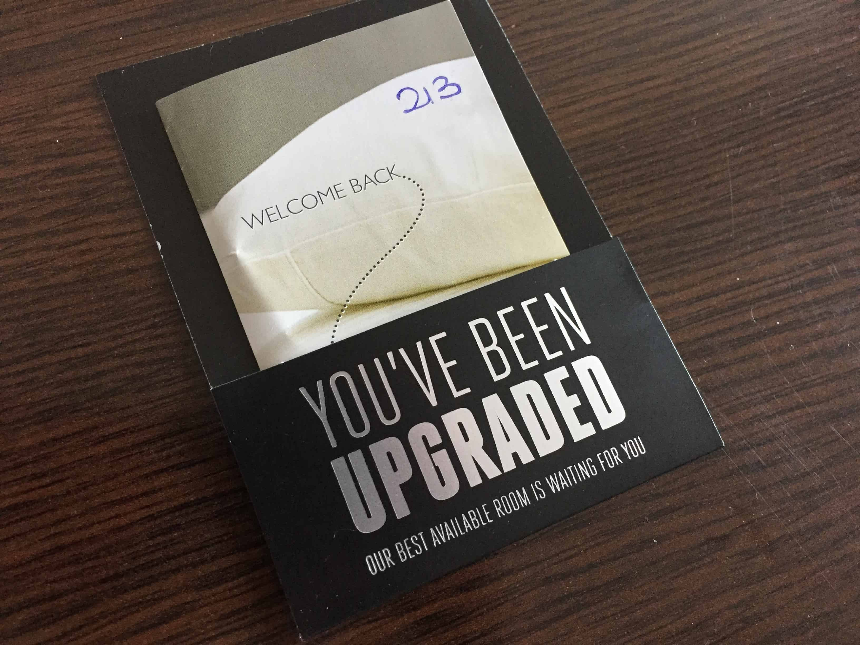 Our Marriott room keycard: we've been upgraded