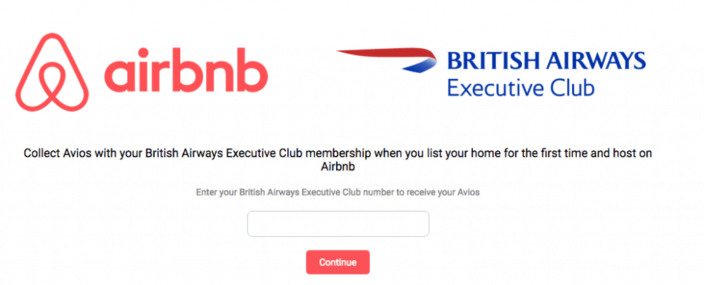 airbnb British Airways hosting bonus offer