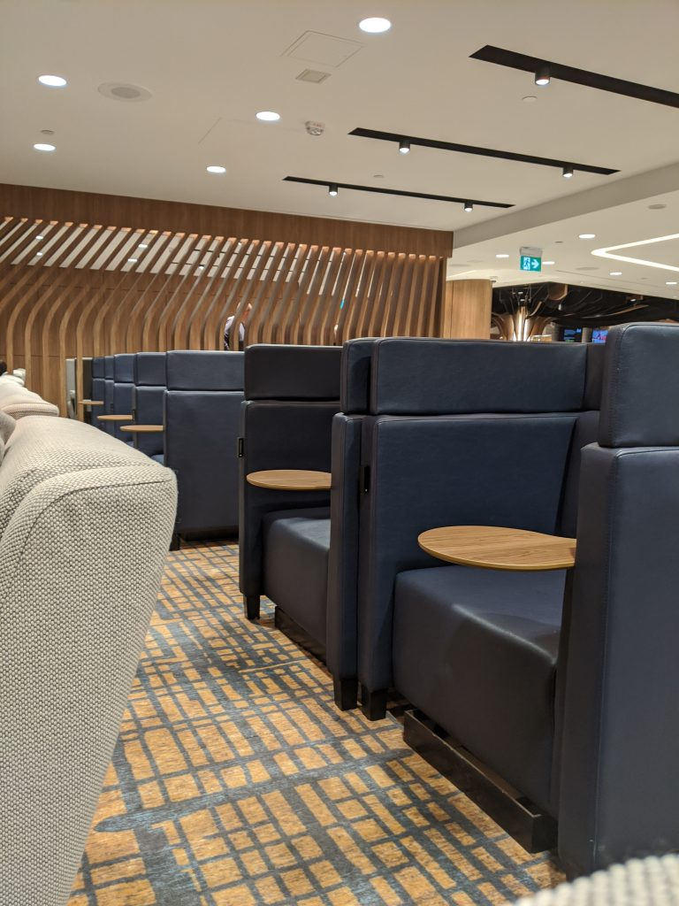 Another view of the private lounge single chairs - Plaza Premium Lounge Toronto Pearson [YYZ]