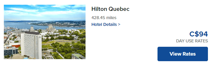 Workspaces by Hilton day use rate at Hilton Quebec City